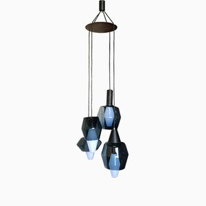Lámpara colgante de madera y vidrio de Tapio Wirkkala para Littala, años 60