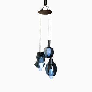 Lampe à Suspension en Bois & Verre par Tapio Wirkkala pour Littala, 1960s