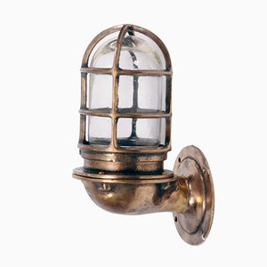American Bronze Wall Light from Oceanic, 1950s