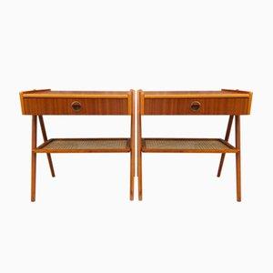 Table de Chevet en Teck par Kai Kristiansen, 1960s, Set de 2