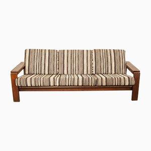 Sofa aus Wengeholz, 1970er