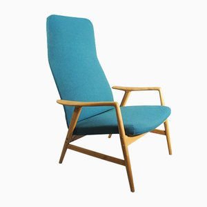 Vintage Swedish Contour Lounge Chair by Alf Svensson for Dux