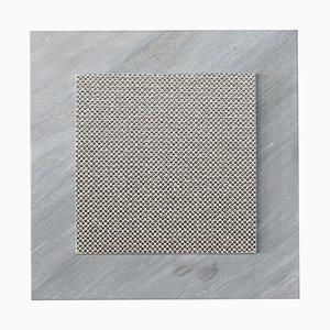 Bougeoir Vittoria Argent en Marbre & Céramique par Tiziana Vittoni Pairazzi pour Paira