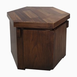 Brutalist Hexagonal Oak Cabinet from Lane, 1960s