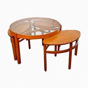 Juego mesa de centro Trinity con 3 mesas nido de Nathan, años 60