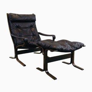 Modell Siesta Stuhl und Ottomane von Ingmar Relling für Westnofa, 1960er
