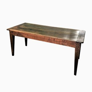 Antique Farmhouse Walnut Dining Table