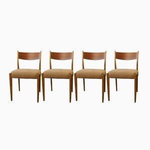 Dänische Mid-Century Stühle aus Teak und Kirschholz, 1960er, 4er Set