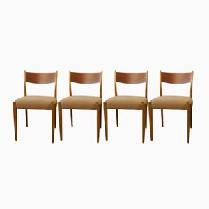 Mid-Century Danish Teak & Cherry Chairs, 1960s, Set of 4