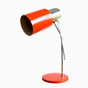 Model 1636 Red Table Lamp by Josef Hůrka for Napako, 1960s