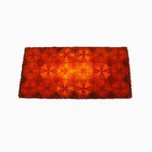 Tappeto di cotone dai colori accesi, anni '70