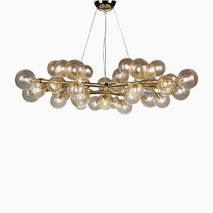Mimosa Chandelier with 42 Lights in Gold by Alberto Dona