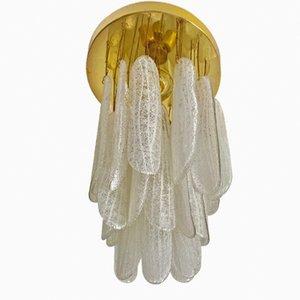Lámpara colgante en cascada de cristal de Murano de Mazzega, años 60