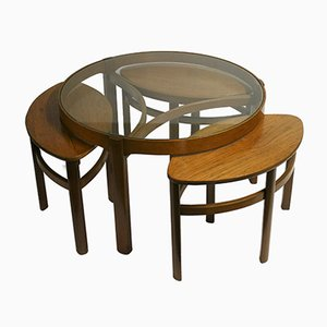 Tables Gigognes Modèle 5614 Trinity de Nathan Furniture, 1960s