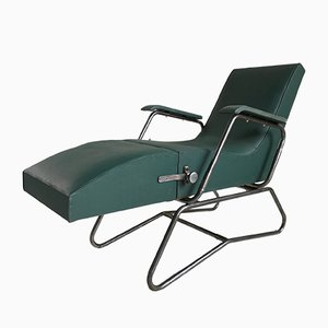 French Adjustable Lounge Chair from Dupré-Perrin, 1920s