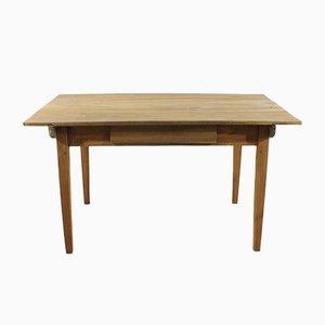 Tavolo antico in legno di ciliegio, metà XIX secolo