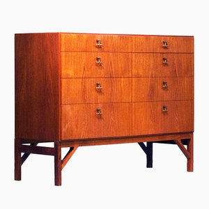 Model 232 Teak Dresser by Børge Mogensen for FDB Møbler, 1960s