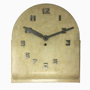 Orologio da parete Art Déco in pergamena, Francia, anni '30