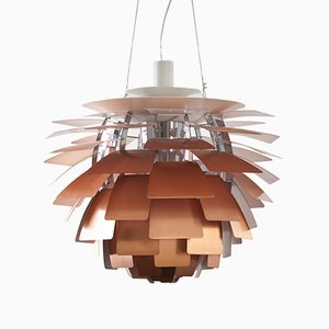 Artichoke Copper Pendant Light by Poul Henningsen for Louis Poulsen, 1980s