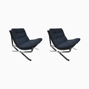 Lotus Lounge Chairs by Ico & Luisa Parisi for MIM, 1960s, Set of 2