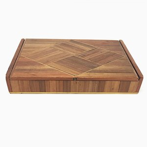 Large Straw Marquetry Box by Jean-Michel Frank, 1930s