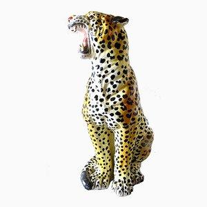 Italian Ceramic Leopard from Ronzan, 1960s