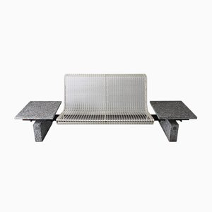 White-Lacquered Steel Bench by Osvaldo Borsani for Tecno, 1980s