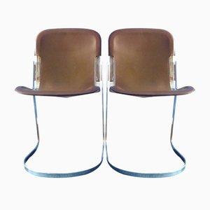Italienische Stühle von Willy Rizzo für Cidue, 1970er, 2er Set
