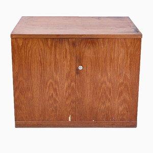 Mueble de cartógrafo industrial vintage de madera, años 70