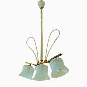 Lámpara de araña de cristal de Murano, 1945