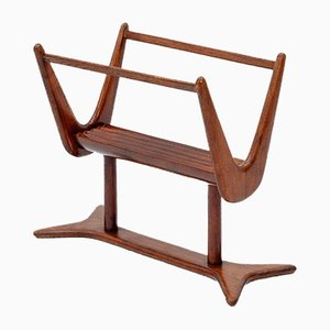 Walnut Magazine Rack, 1950s