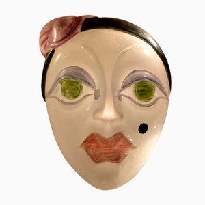 Lampada vintage con maschera del Carnevale di Venezia di Renato Borsato, 1989
