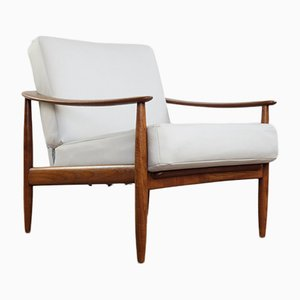 Solid Teak Armchair from Wilhelm Knoll, 1960s