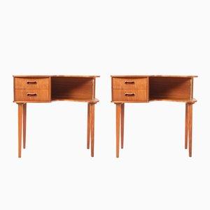 Teak End Tables by Kai Kristiansen for FM Møbler, 1950s, Set of 2