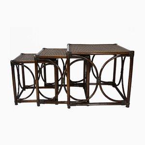 Tables Gigognes Rotin & Jonc, 1960s
