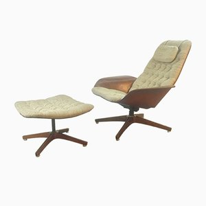 Model Mr Chair Lounge Chair and Ottoman by George Mulhauser for Plycraft, 1960s
