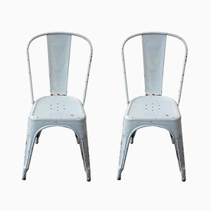 Model A Garden Chairs by Xavier Pauchard for Tolix, 1930s, Set of 2