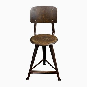 Model 4 Factory Stool by Robert Wagner for Rowac, 1940s