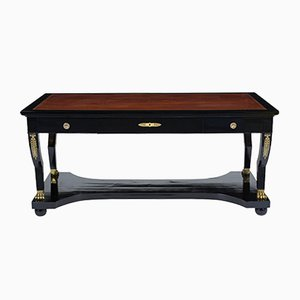 French Empire Ebonized Desk, 1910s