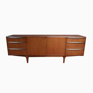 Vintage Teak Sideboard with Brass Handles by Tom Robertson for McIntosh, 1960s