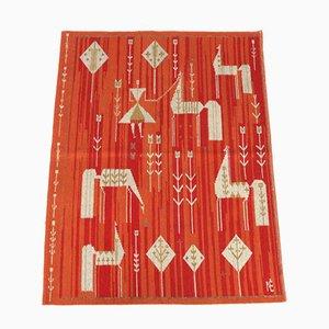 Vintage Handwoven Wool Rug