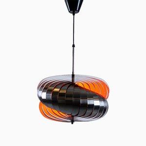 Lampada a spirale in acciaio inossidabile di Henri Mathieu, anni '60