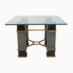 Table Basse en Marbre Noir, 1970s