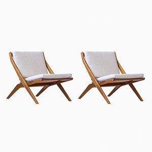 Mid-Century Scissor Sessel von Folke Ohlsson für Bodafors, 2er Set