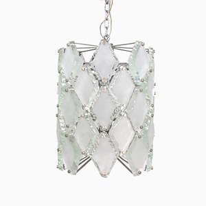 Hammered Glass Pendant with 12 Lights, 1960s