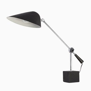 Italian Metal & Stone Desk Lamp from SEM, 1970s