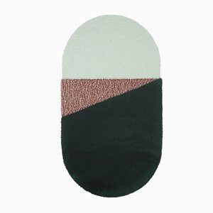 Medium RG Green/Brick Oci Rug by Seraina Lareida for Portego