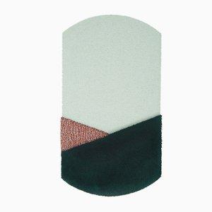 Tappeto medio Oci CN verde e color mattone di Seraina Lareida per Portego