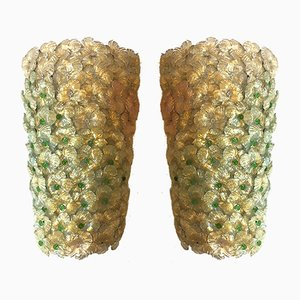 Large Millefiori Wall Sconces by Ercole Barovier for Barovier & Toso, 1950s, Set of 2