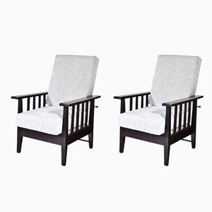 Functionalist Lounge Chairs, 1940s, Set of 2